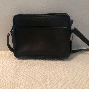 Black vintage coach crossbody purse